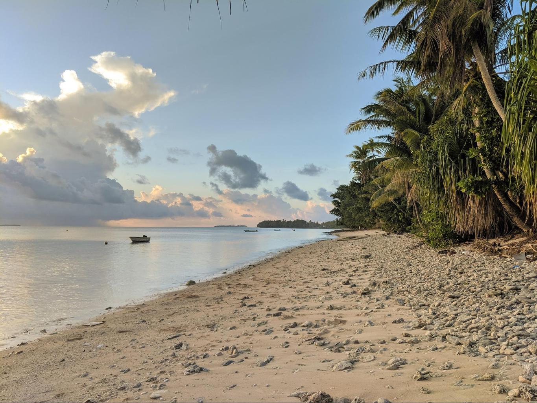Beautiful sunsets on Tuvalu