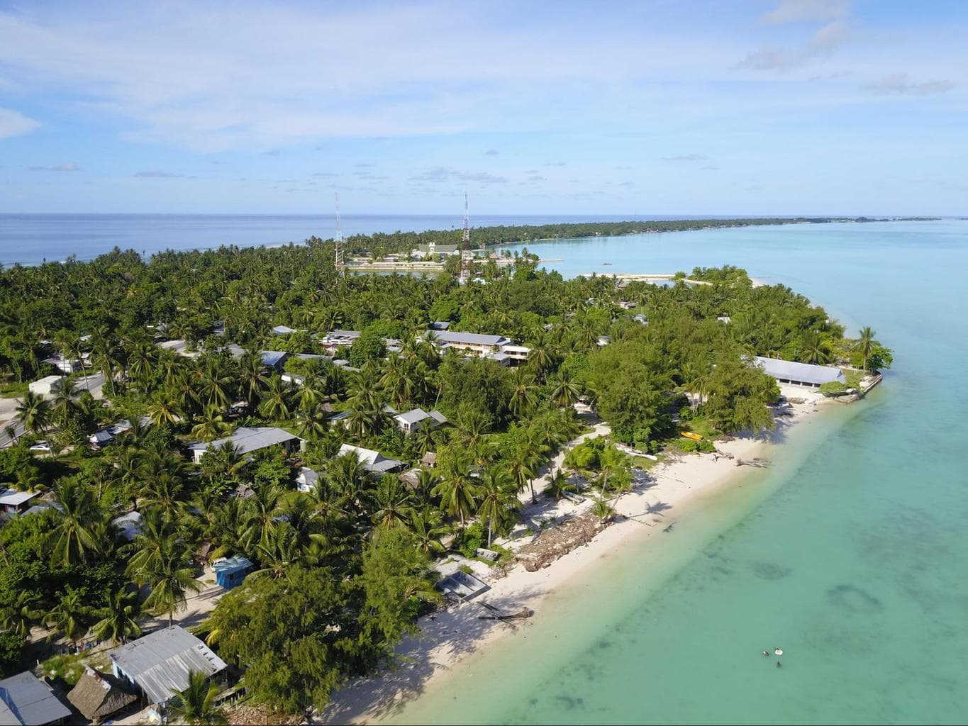 Clear skies in Kiribati's dry season