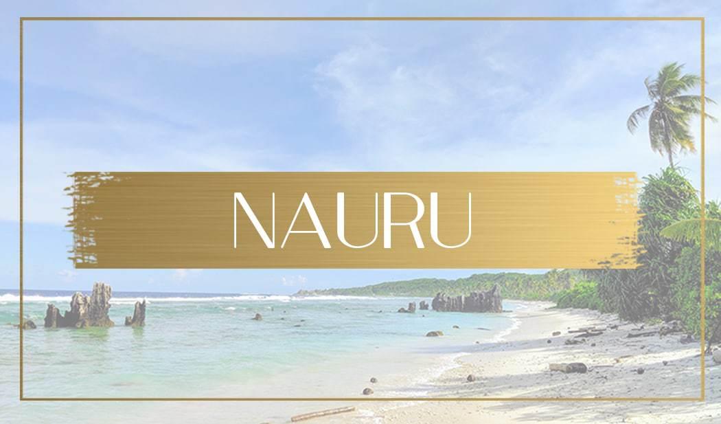 Destination Nauru main