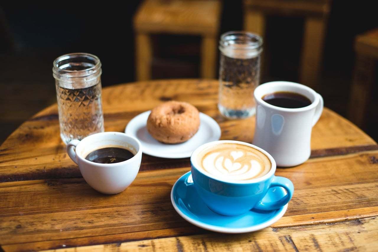 Espresso, cappuccino and caffe latte