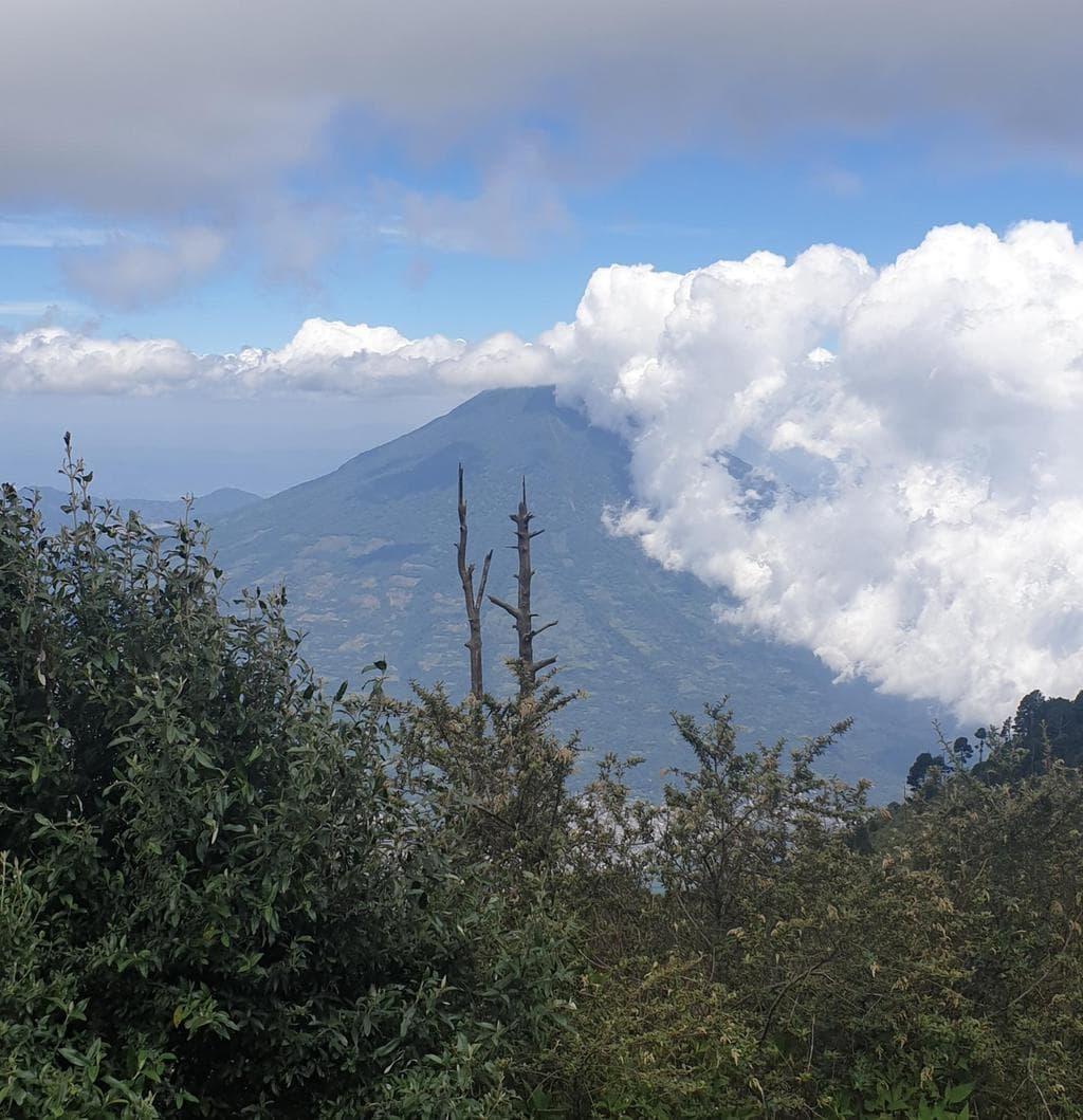 Hiking views of Fuego Volcano