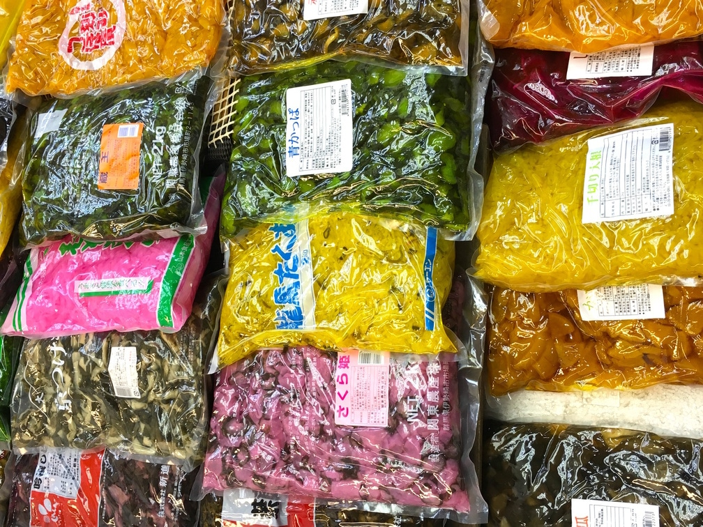 Japanese pickles and sauces