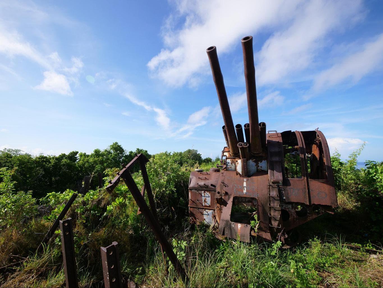 Japanese WWII guns in Nauru