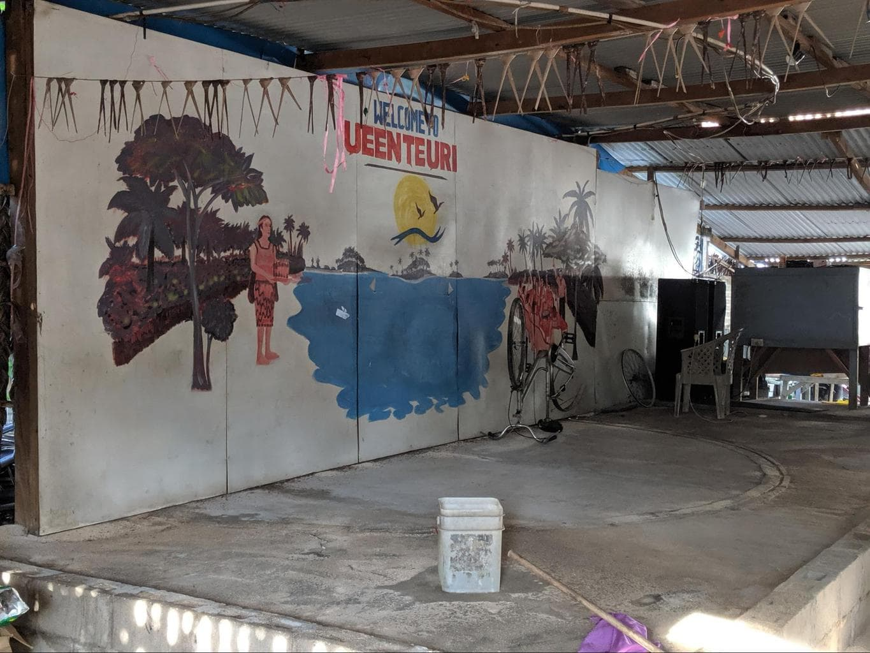 Kava bar area in Kiribati