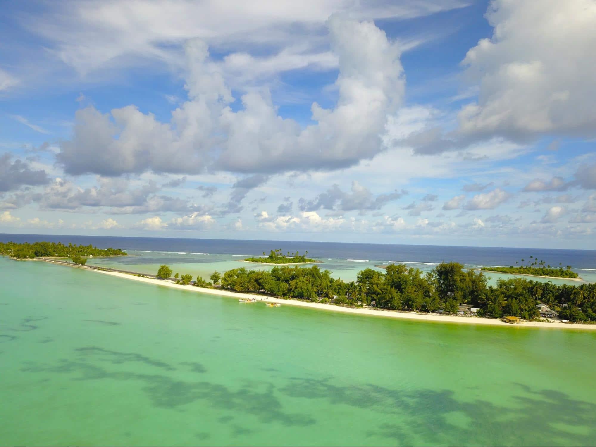Kiribati drone shot