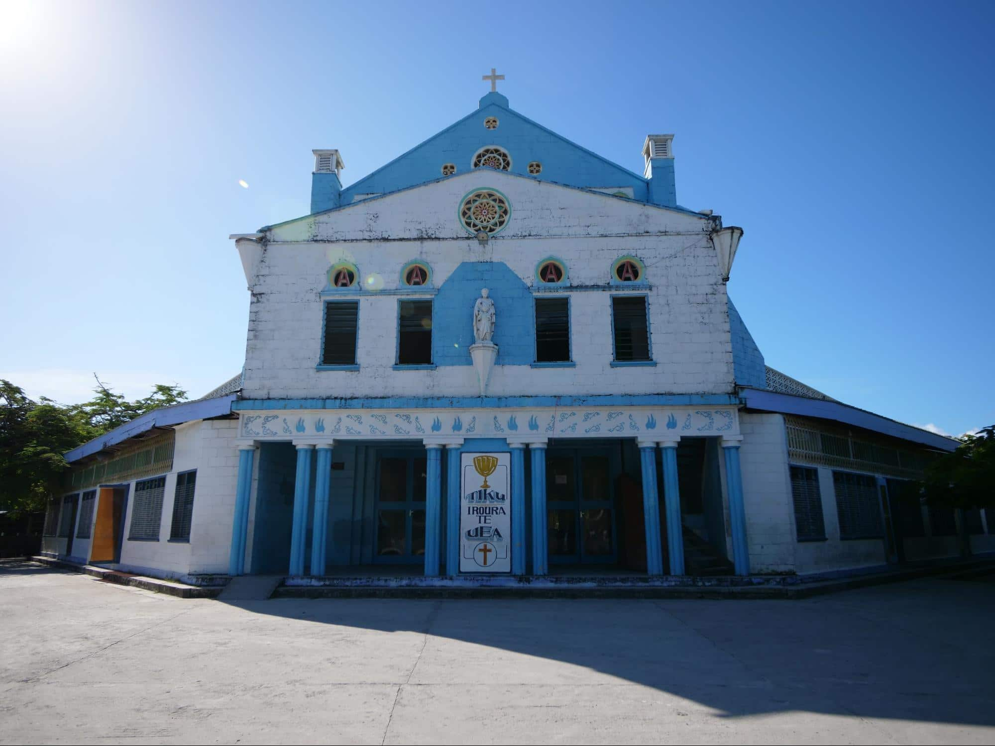 More colorful churches in Kiribati
