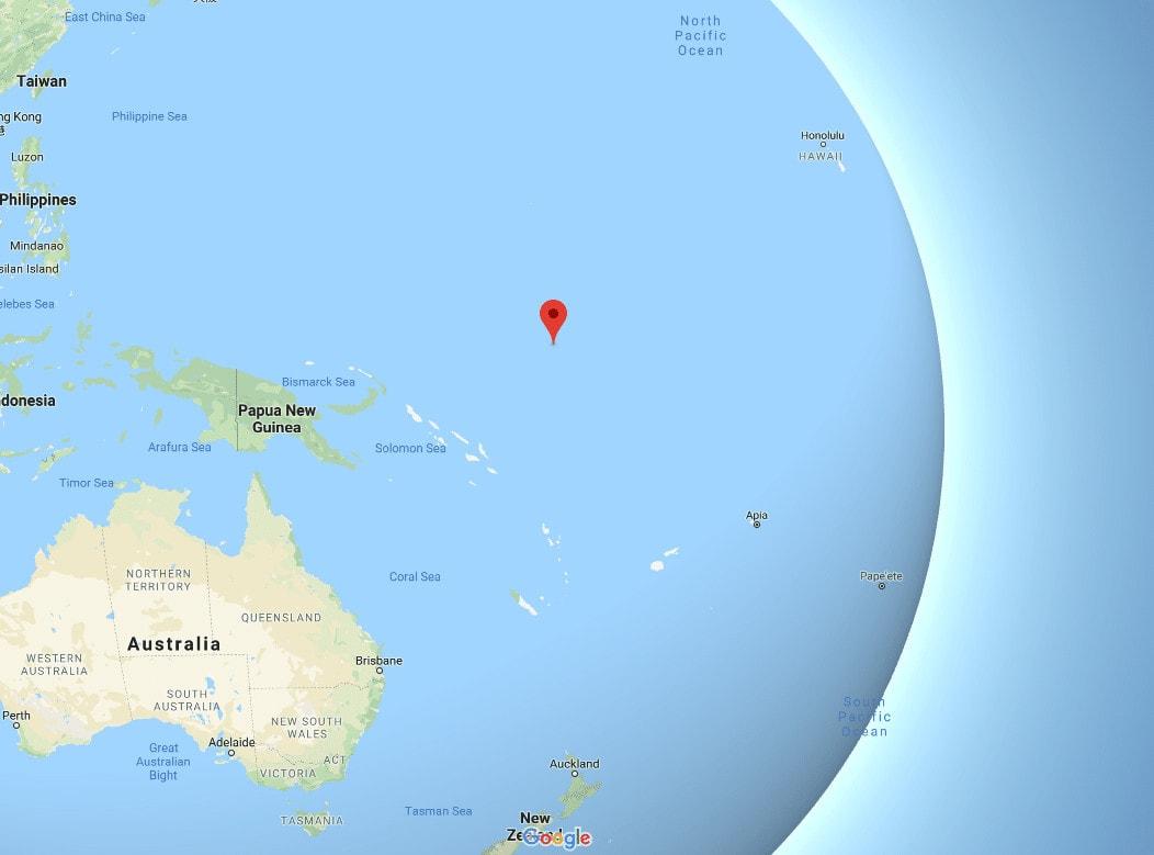 Nauru location on a map
