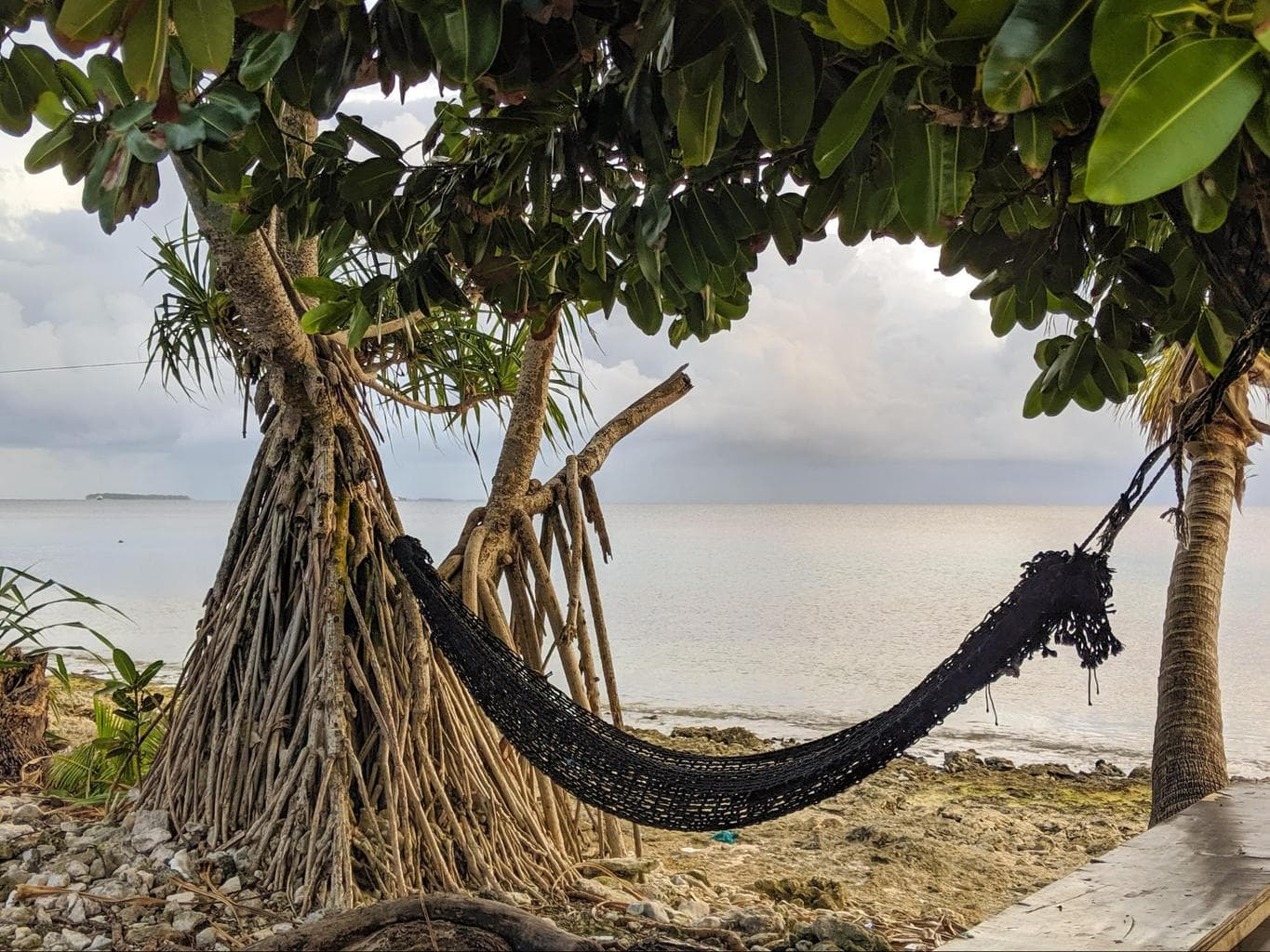 One of the many hammocks in Tuvalu