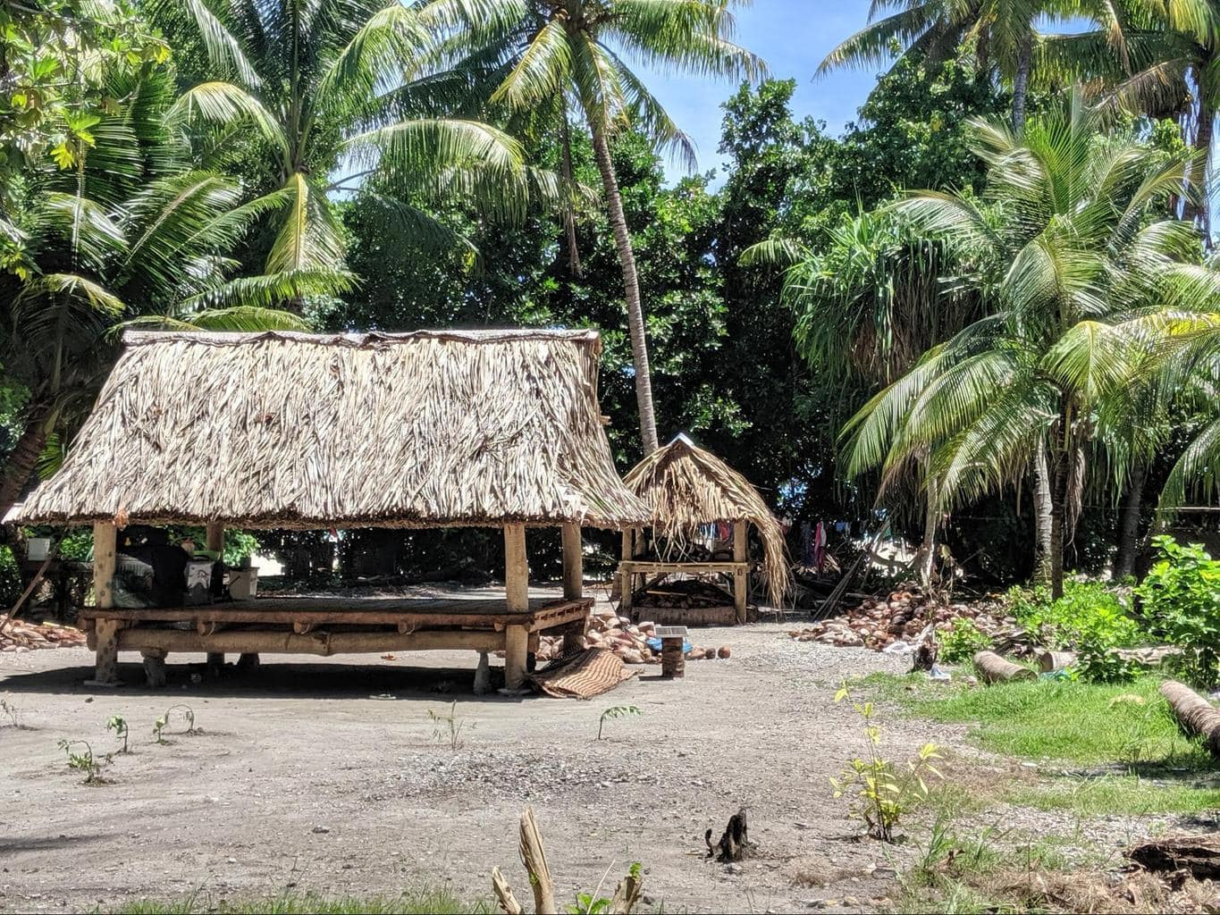 One of the small communities in North Tarawa