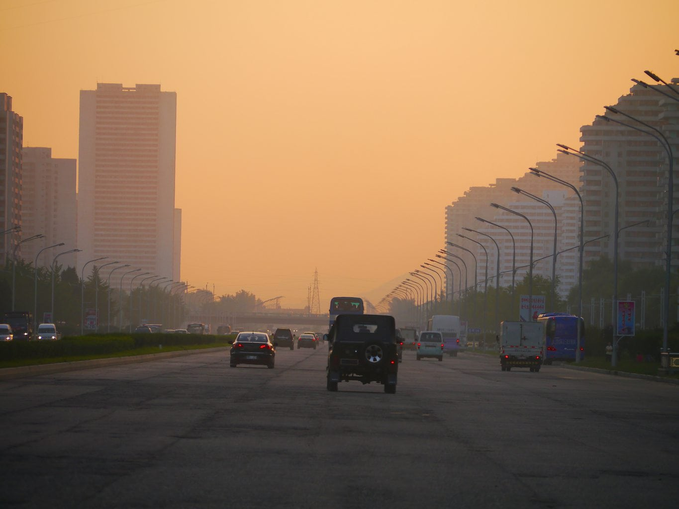 Haze and pollution in Pyongyang