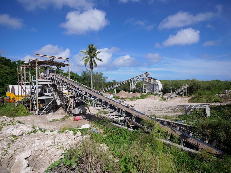 Phosphate mines in Nauru