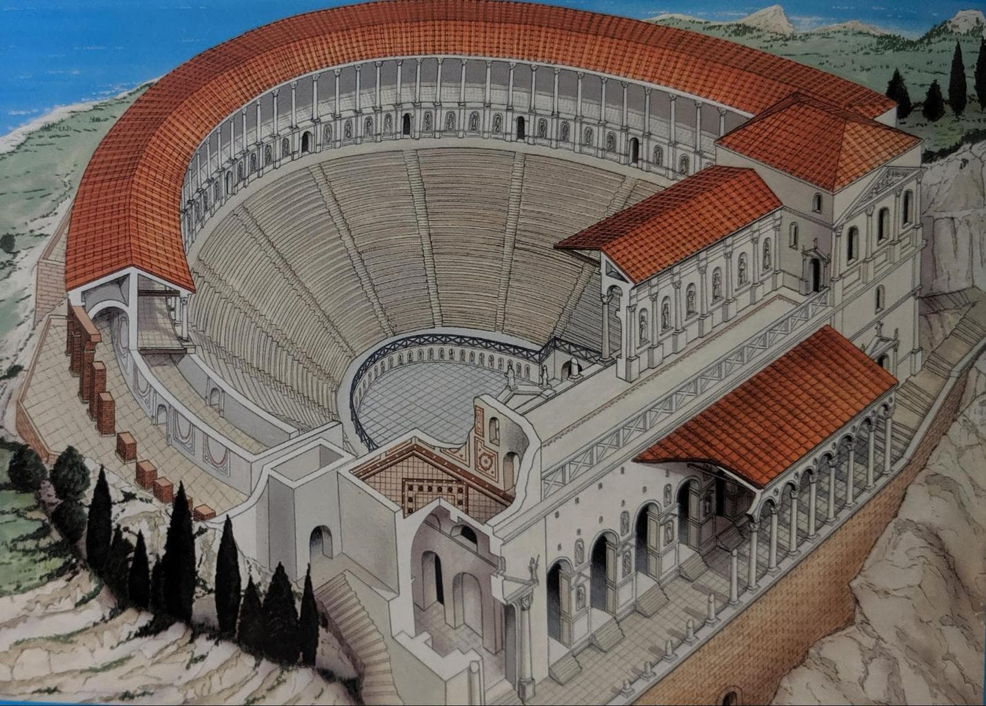 Reconstruction of the Ancient Greek Theatre of Taormina