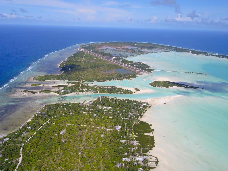 Runway of Tarawa international runway