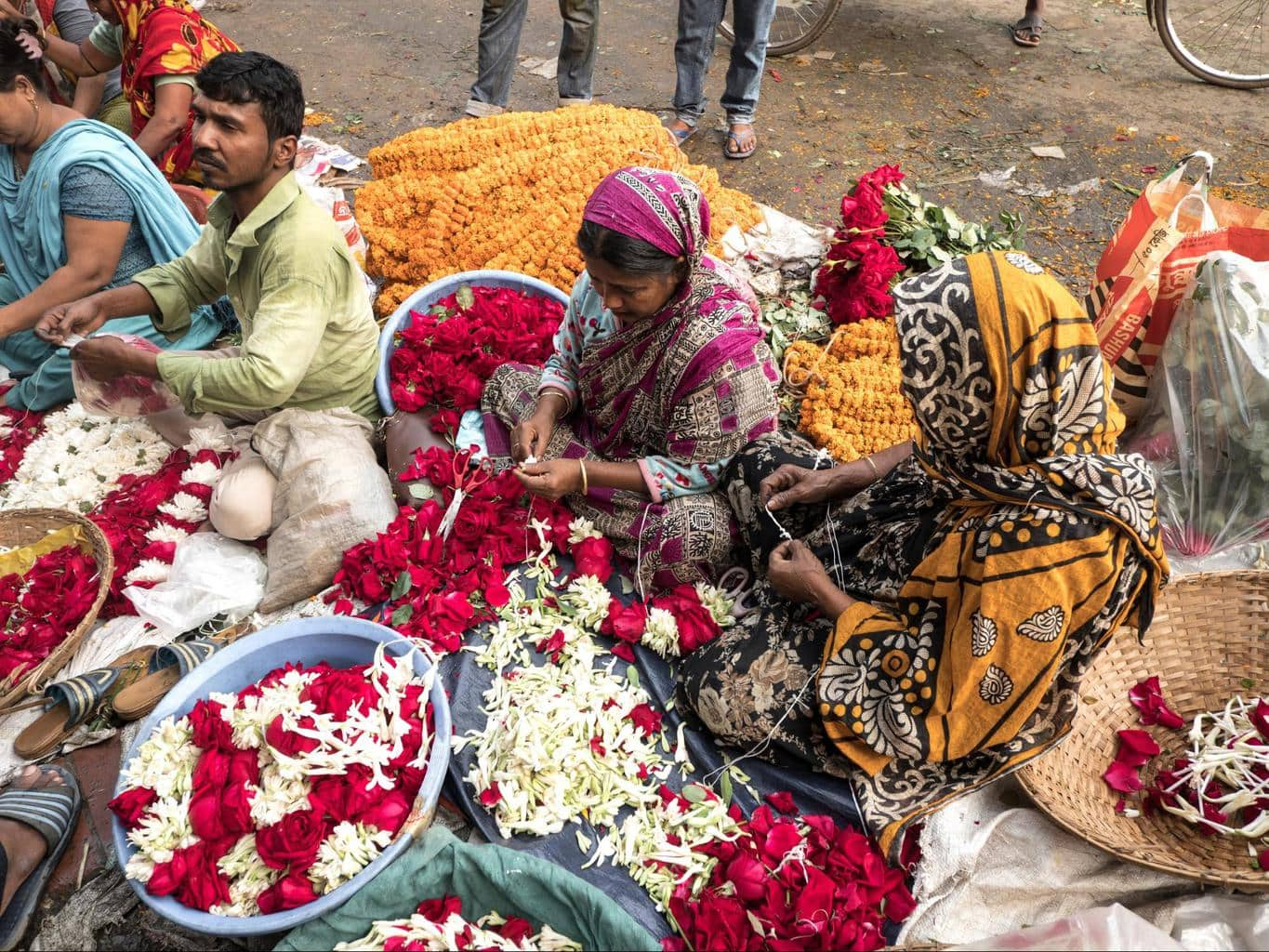 Shahbagh flower market 02