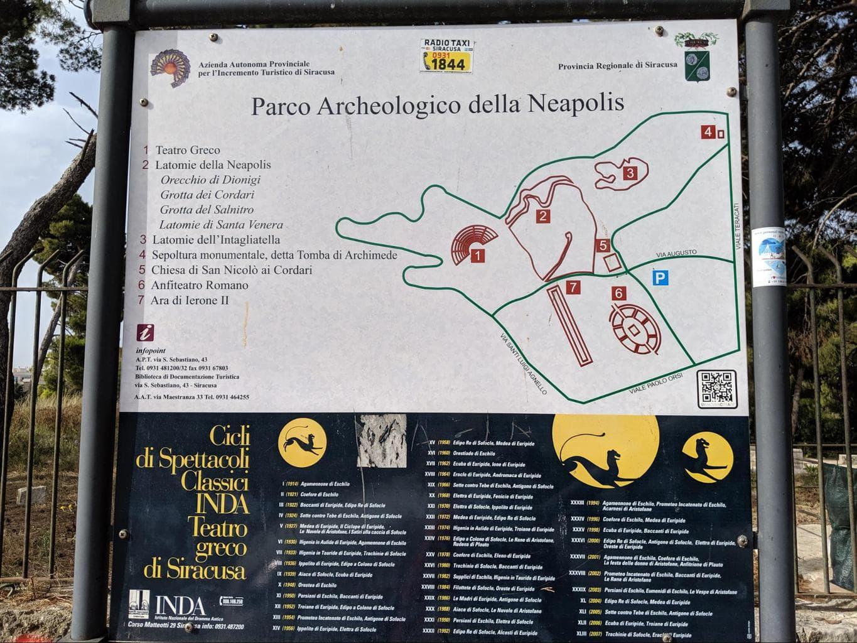 Syracuse neapolis map