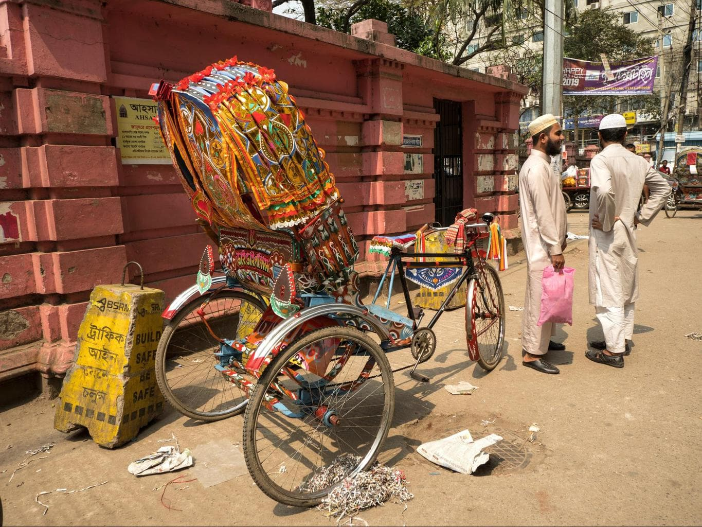 Take a rickshaw ride