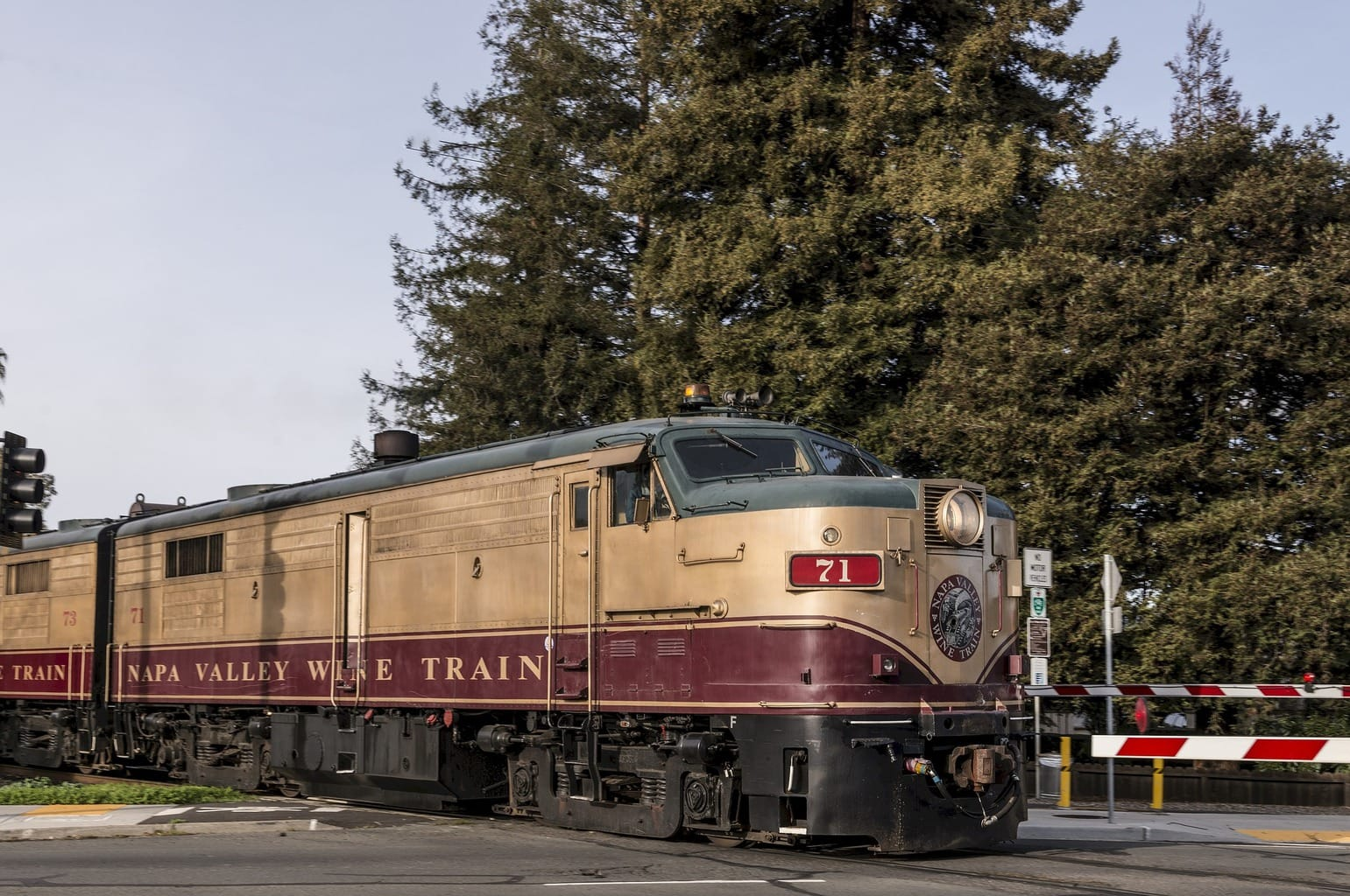 Taking the train in Napa Valley