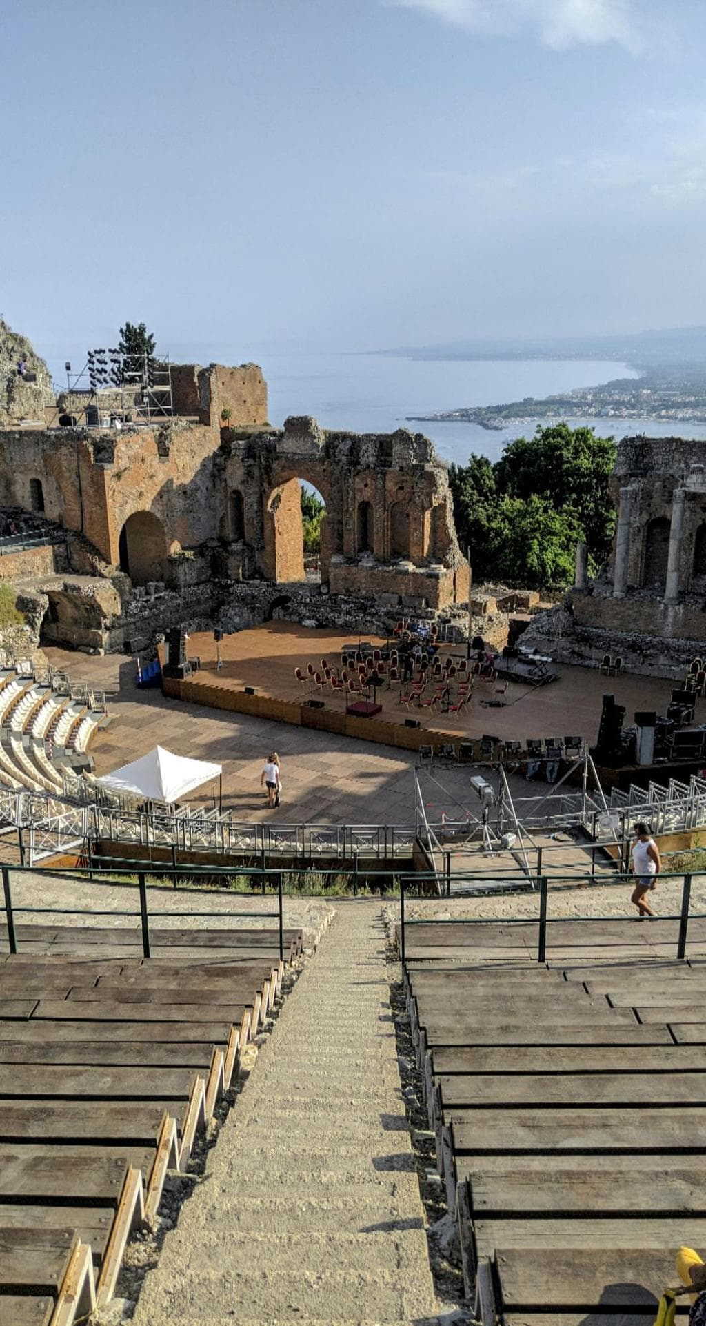 Taormina's Ancient Greek Theatre stage getting ready for summer performances 01