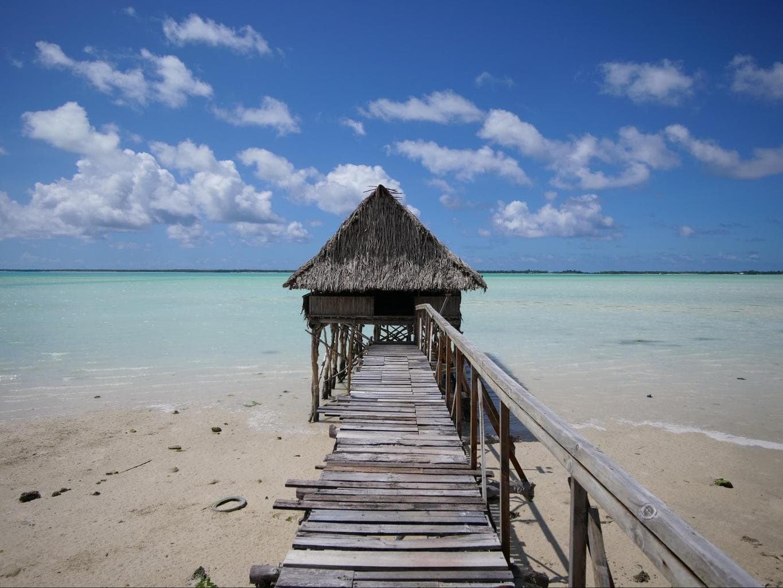 The beautiful waters of Kiribati