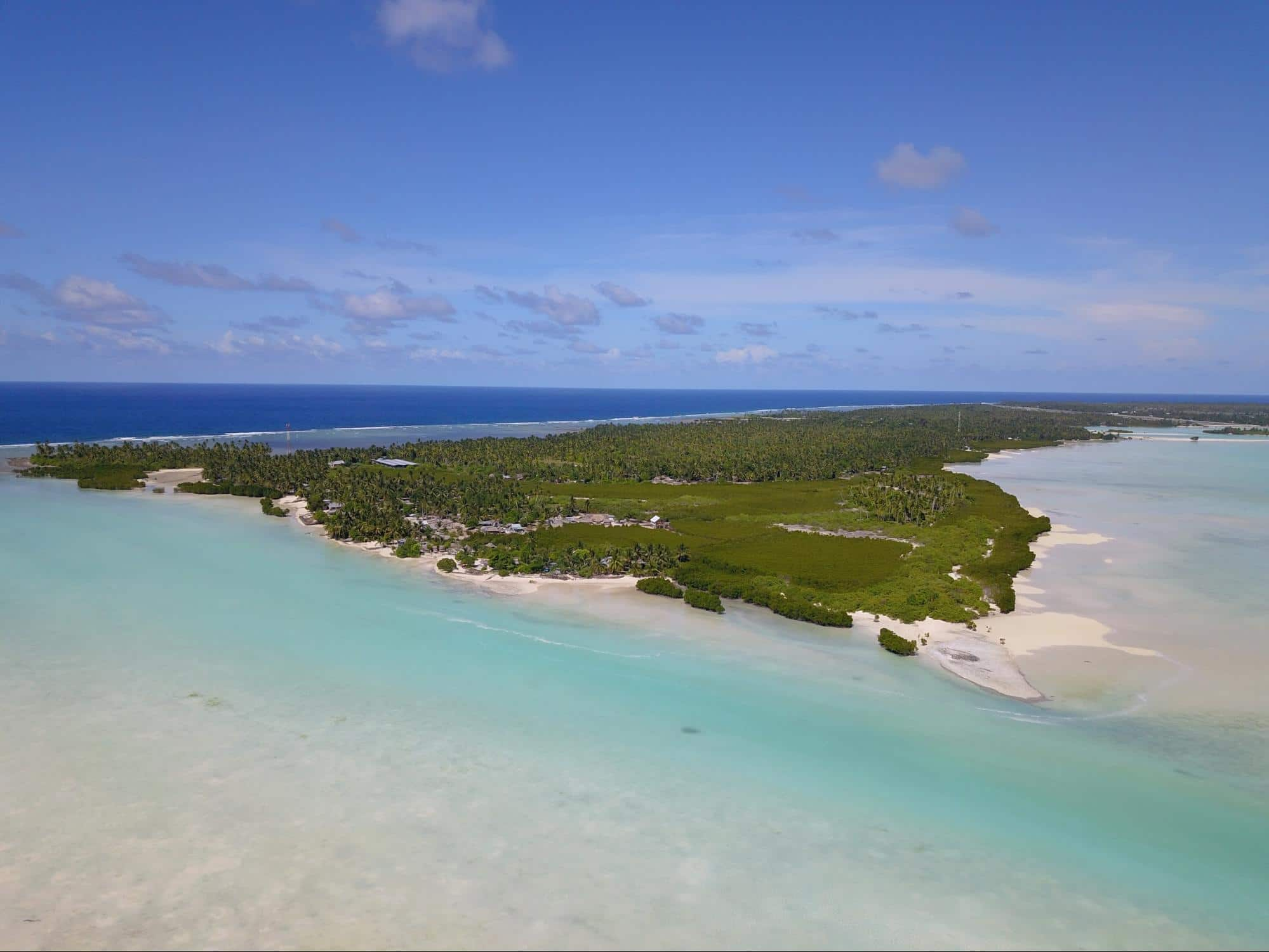 The clear and clean waters of Kiribati