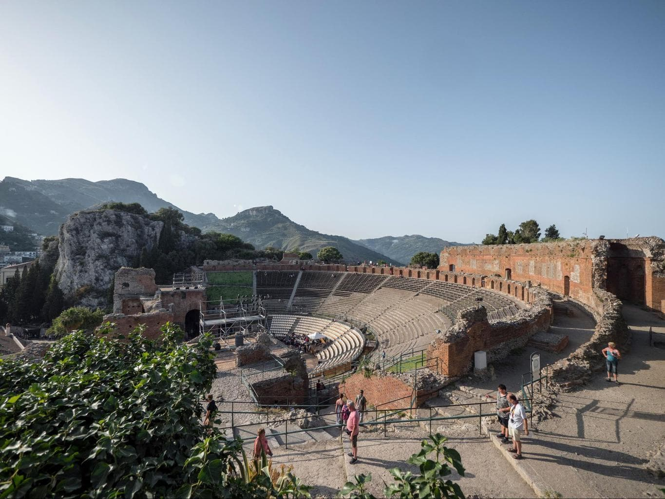 The entrance to the portico of Taormina's Ancient Greek Theatre