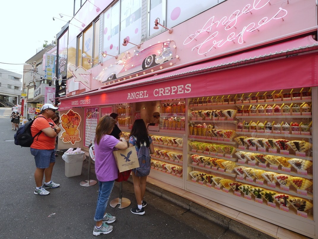 The long list of crepe variations in Japan's Harajuku