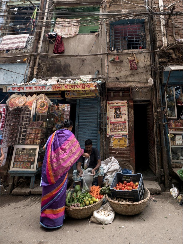 The narrow houses on Shankhani street