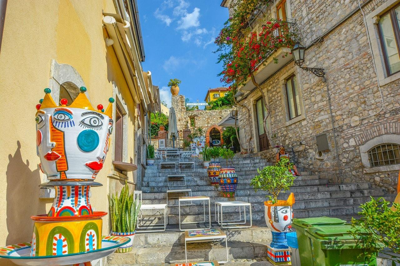 The streets of Taormina