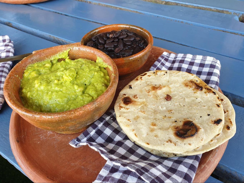 Traditional Guatemalan food in Hobbitenango