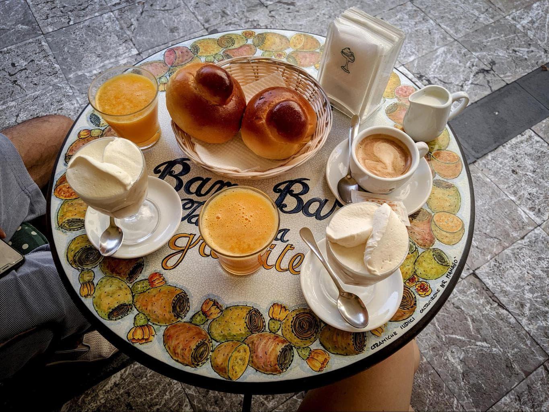 Traditional Sicilian breakfast