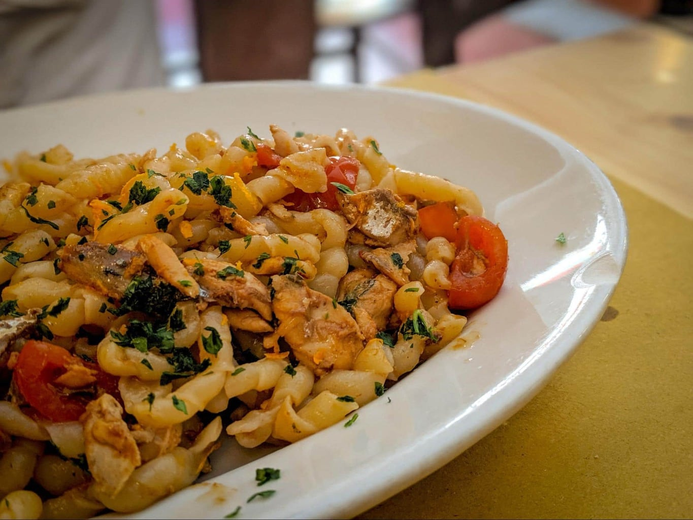 Traditional Sicilian pasta with sardines