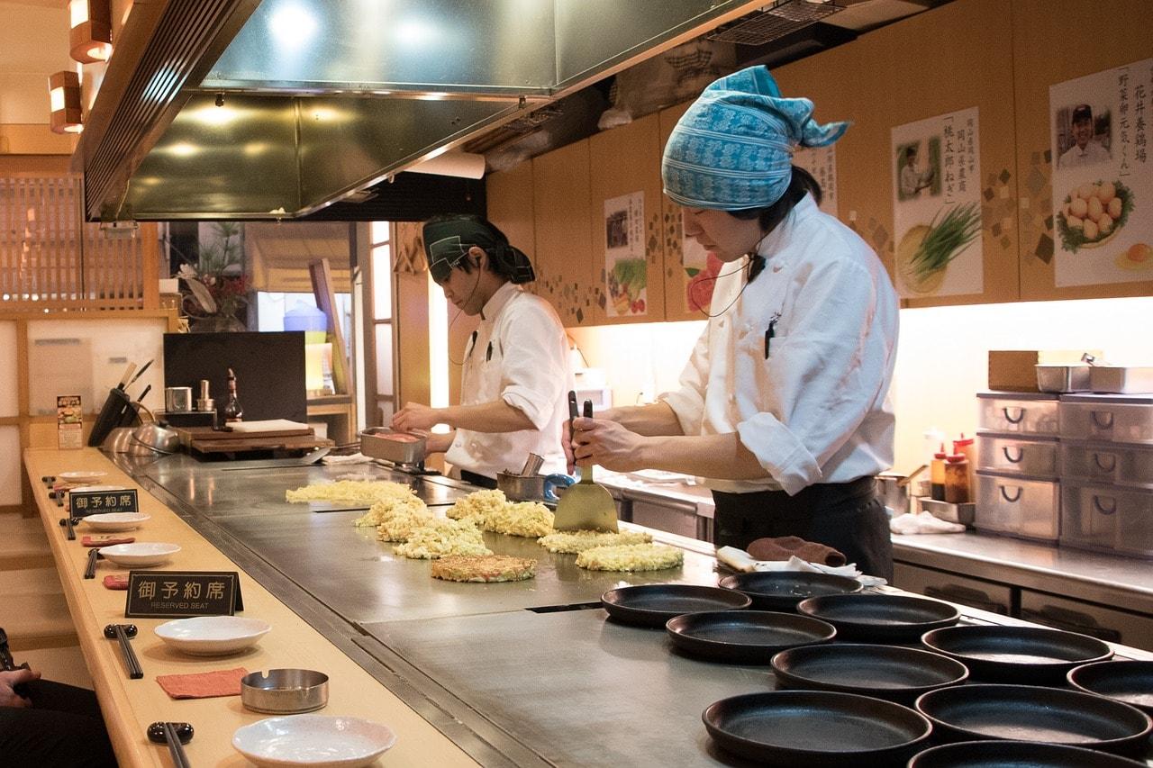 Traditional food in Japan - Okonomiyaki