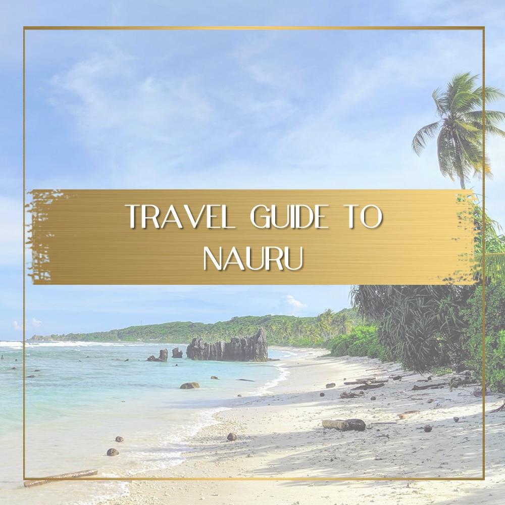 Travel guide to Nauru feature