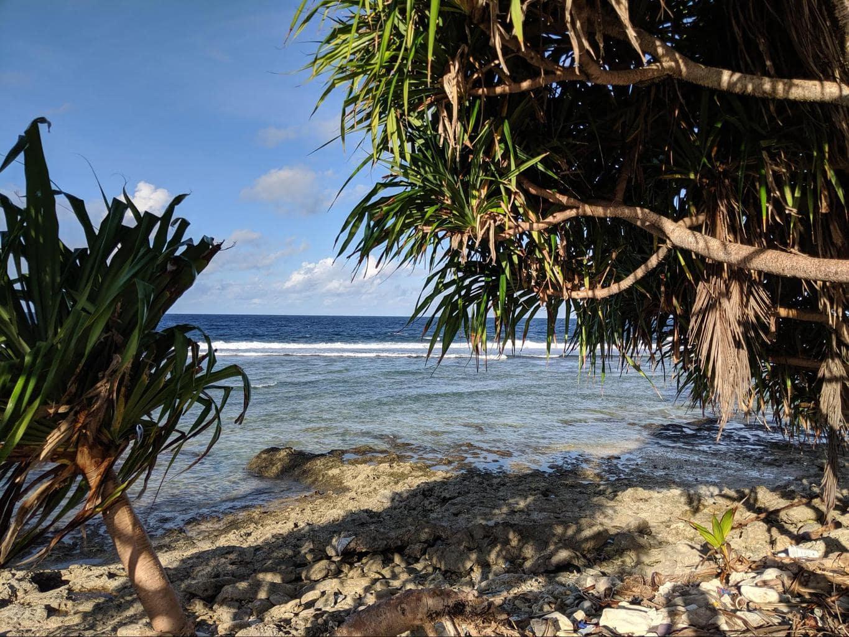 Tuvalu's coastline