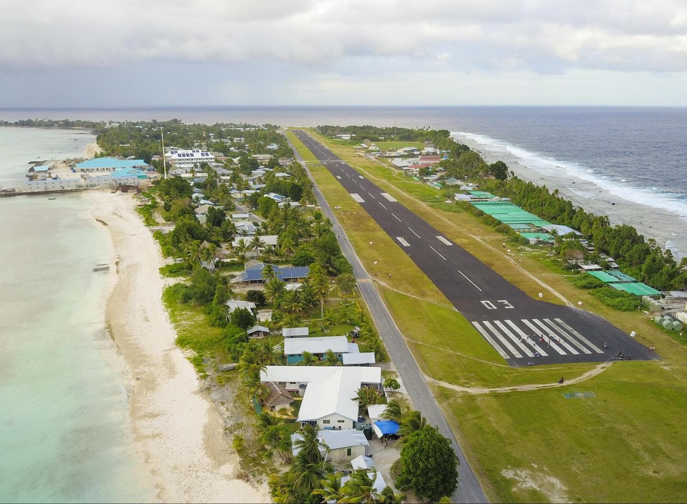 Tuvalu's runway from my drone