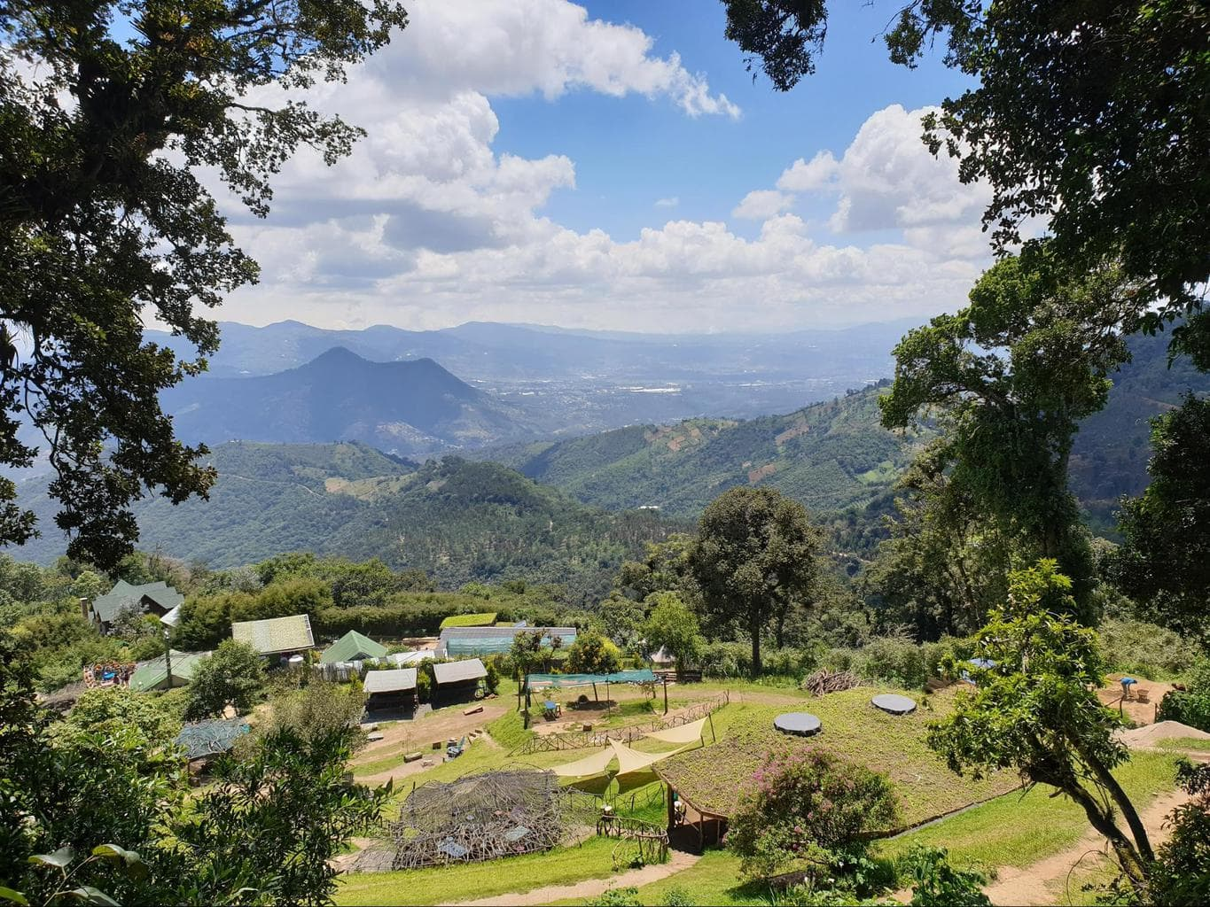 View from and of Hobbitenango