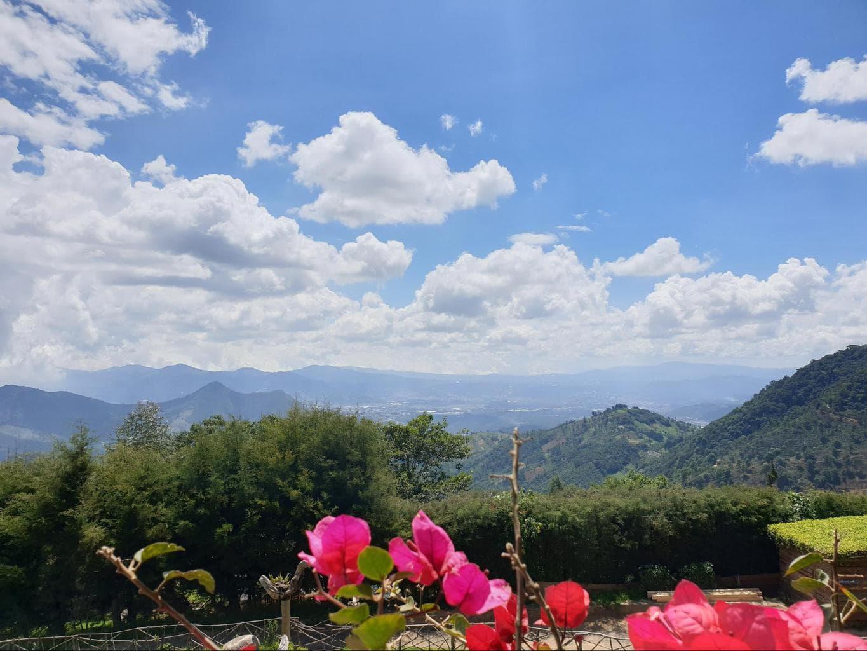 Views from the restaurant in Hobbitenango