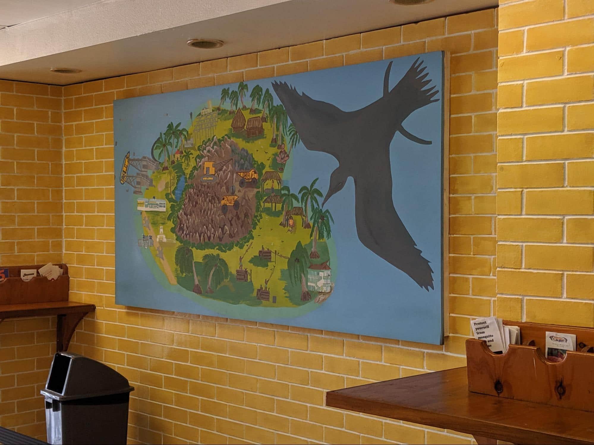 Welcome painting at Nauru Airport