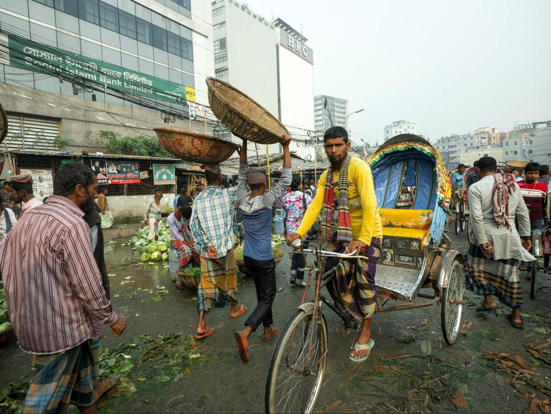 Wholesale market in Dhaka