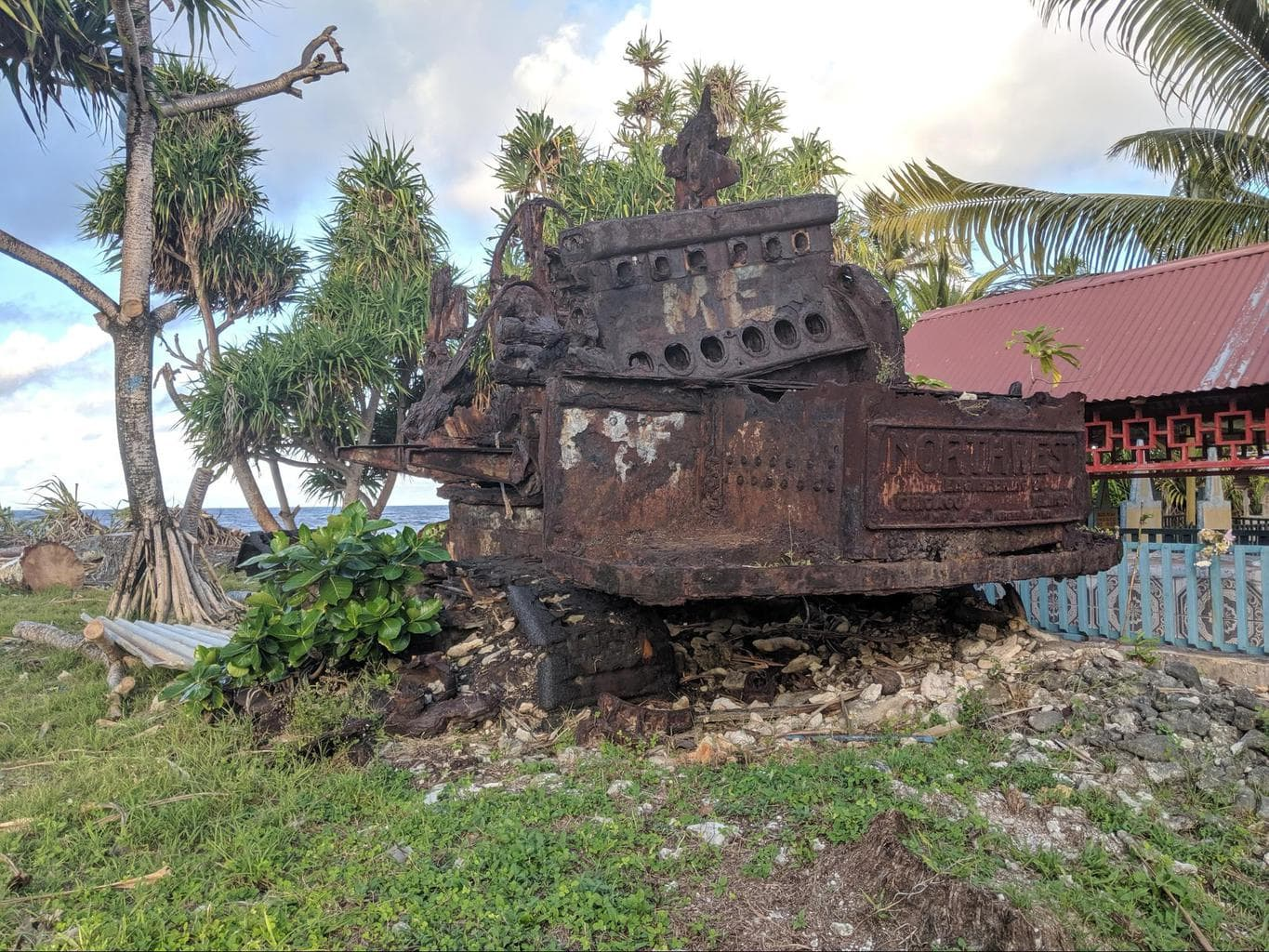 Wreck from WWII in Tuvalu