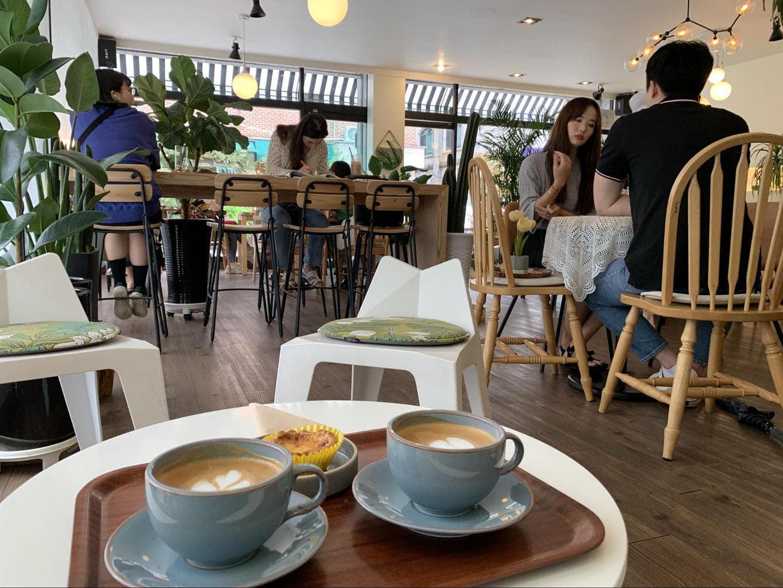 A quaint coffee shop in Seoul