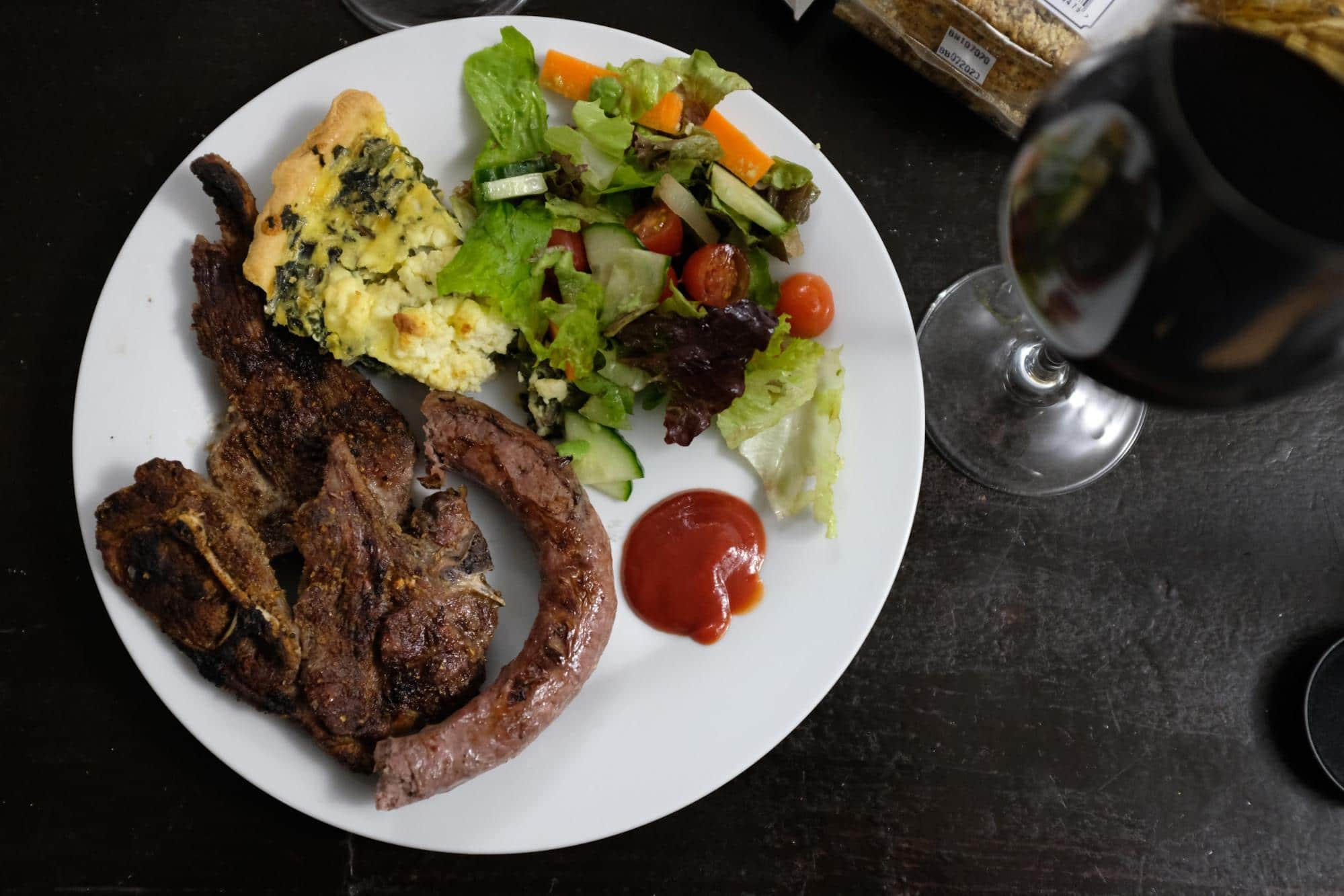 A typical South African meal from a braai