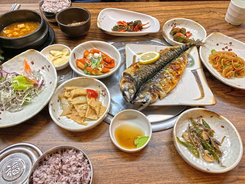 Baekban with saengseon-gui