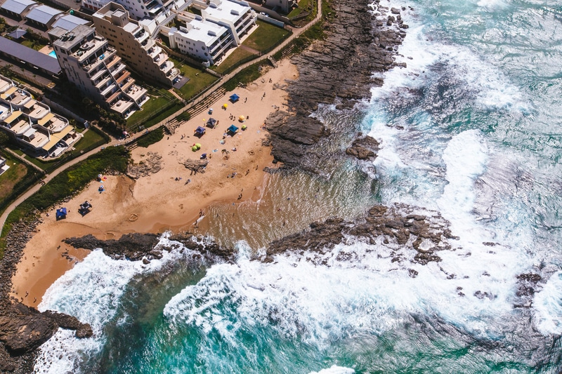 Beaches around Durban, South Africa's largest Indian population