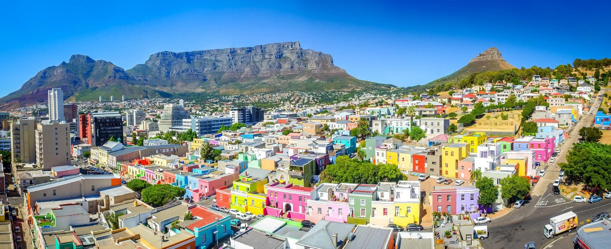 Bo Kaap, the epicenter of the Cape Malay community in Cape Town. Wikipedia SkyPixels (CC BY-SA 4.0)
