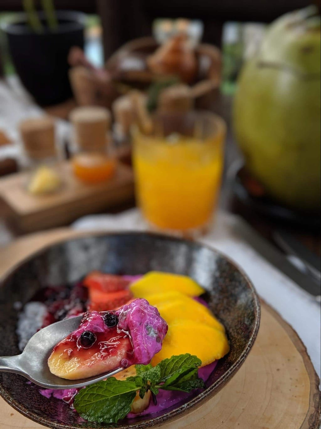 Breakfast bowls and dishes at Capella Ubud 01