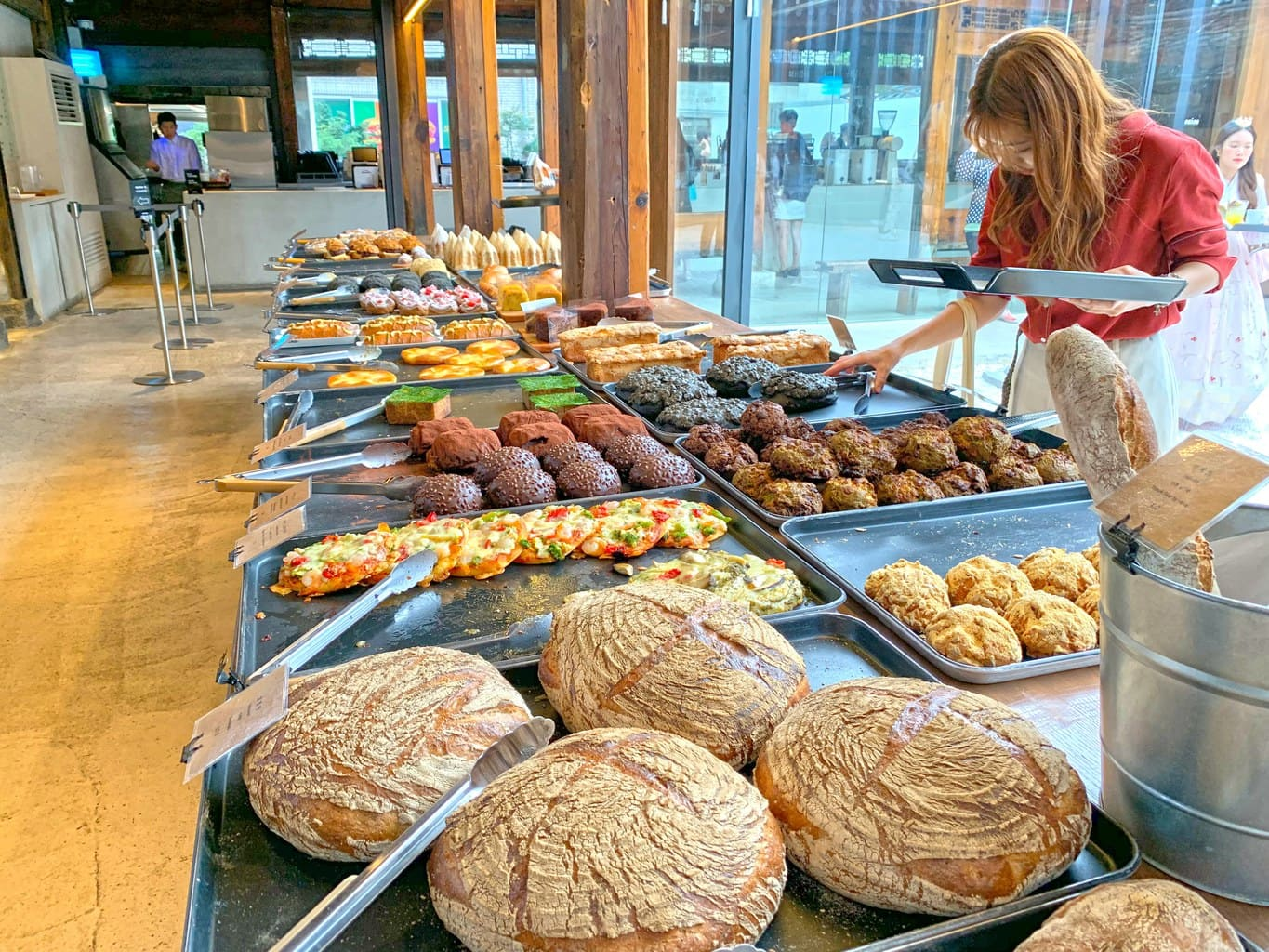 Delicious baked goods at Cafe Onion