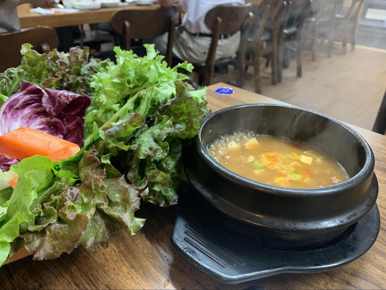 Doenjang-jjigae or soybean stew