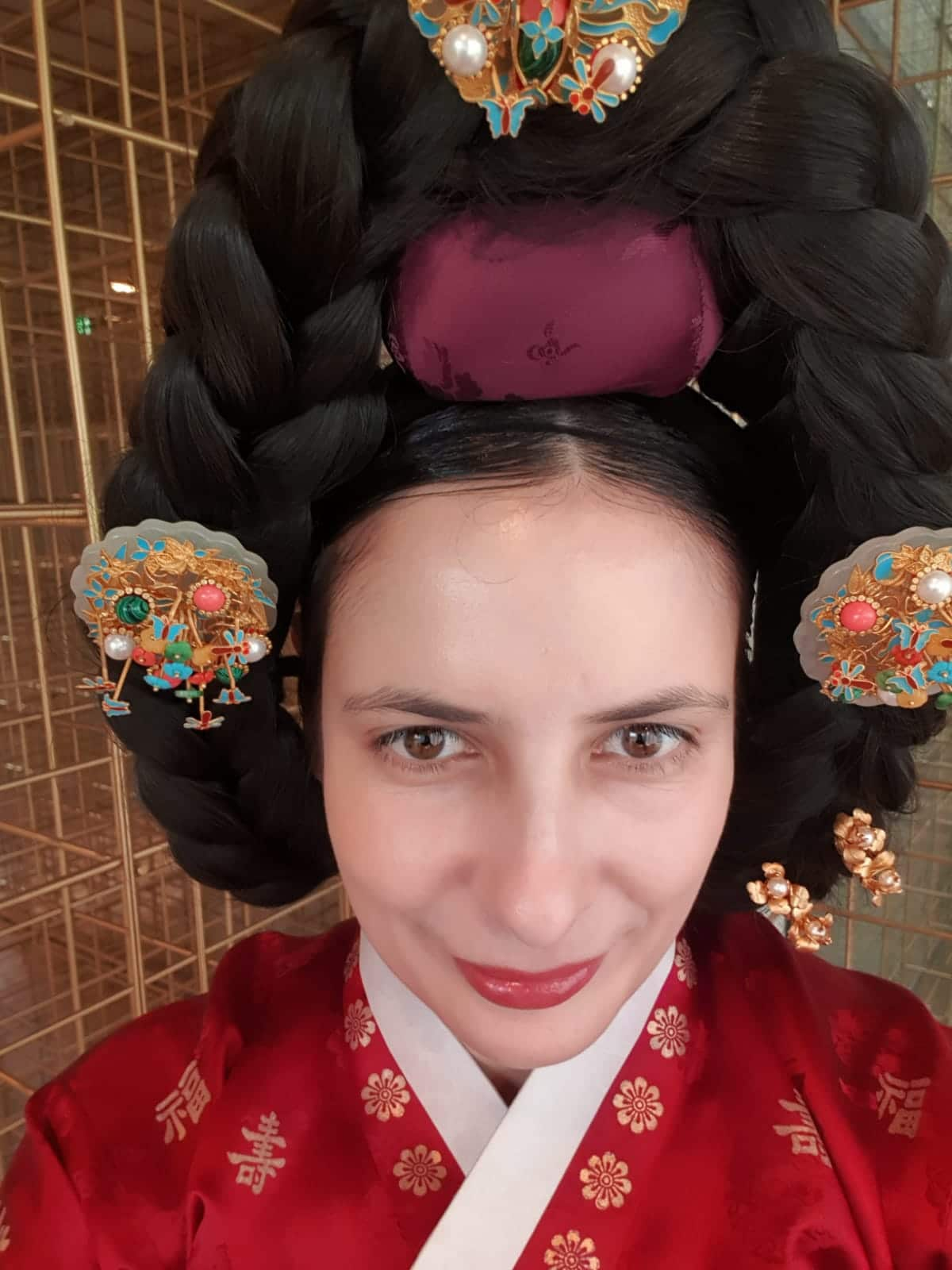 Dressing up in hanbok at Sulwhasoo