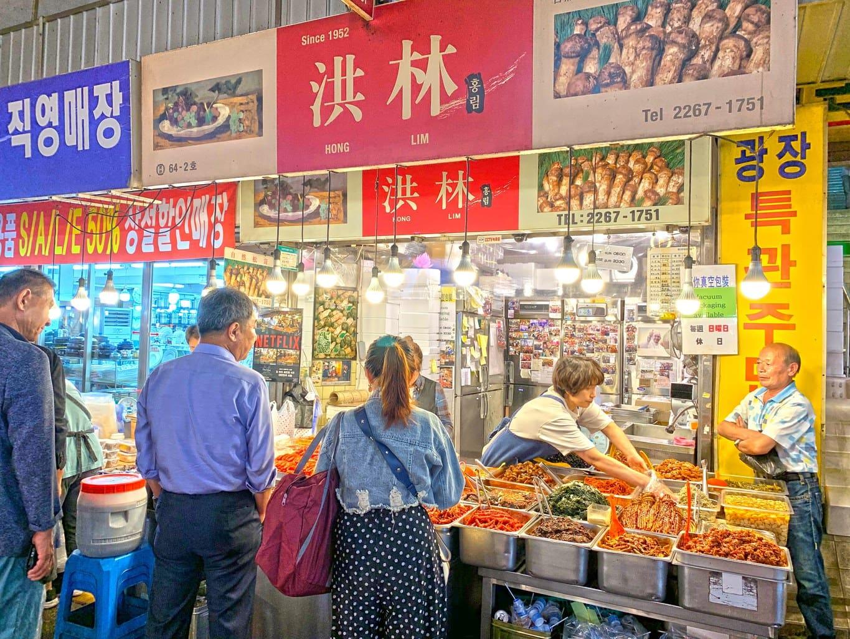 Famous store at Gwangjang market